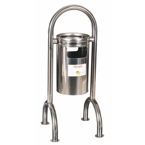 Four-base Stainless Garbage Bin