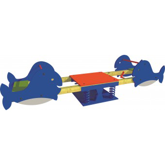 Whale Spring Seesaw